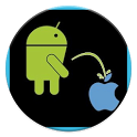 Android Peeing Apple LWP icon