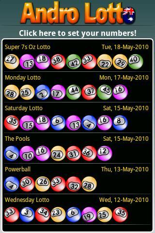 Andro Lotto AU- screenshot