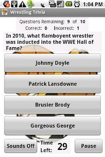 Wrestling Trivia - screenshot thumbnail