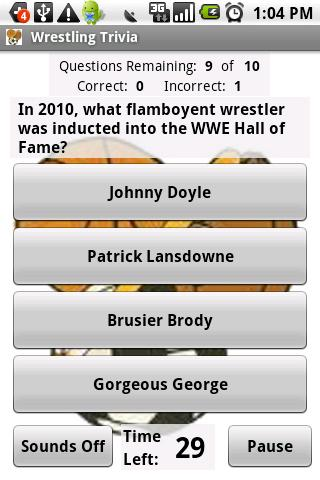 Wrestling Trivia - screenshot