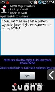 IVONA Maja Polish beta - screenshot thumbnail