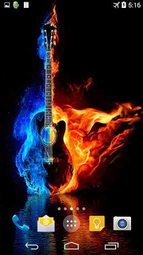 Burning Guitar Live Wallpaper