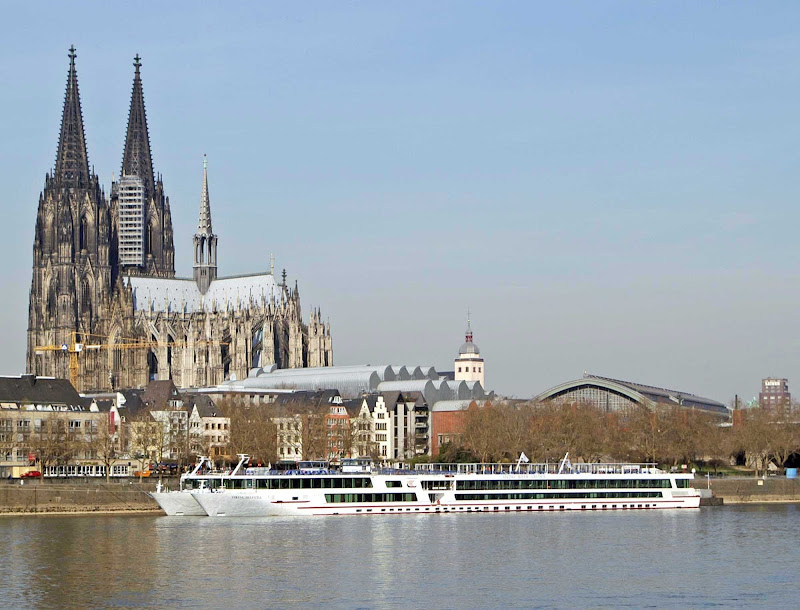 Viking Helvetia sails in Cologne, Germany.