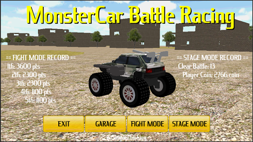 Monster Car Battle Racing