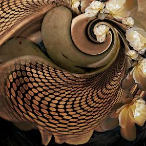 MEMENTO by Carmen Velcic - Digital Art Abstract ( abstract, roses, brown, flowers, digital )