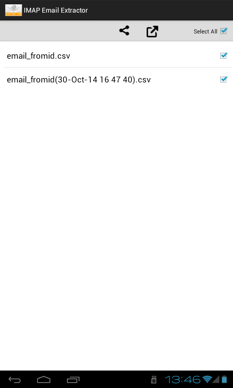 IMAP Email Extractor- screenshot