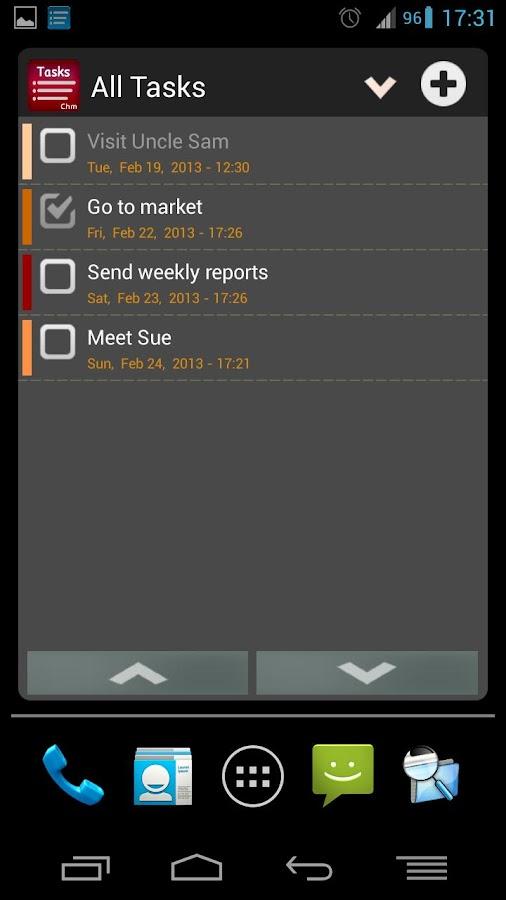 Task List - To Do list Widget - screenshot