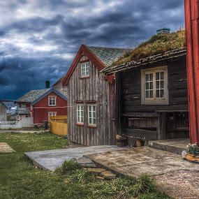 Abandoned - 1 by Astrid Hagland Gjerde - Buildings & Architecture Decaying & Abandoned ( clouds, building, houses, old, empty, weather, storm )