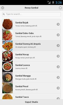 Kumpulan Resep Sambal - screenshot