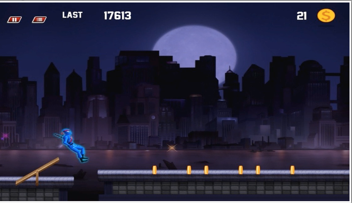 Ninja Dark City Run RoofTop - screenshot