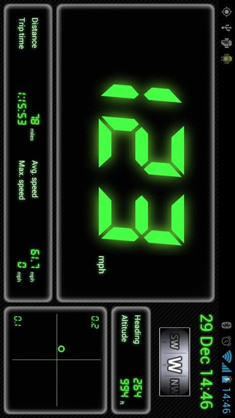 Droid Dashboard (Green) - screenshot