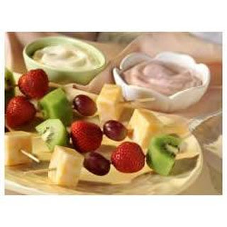 Cheese and Fruit Kabobs.
