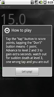 Tap a lot - screenshot thumbnail