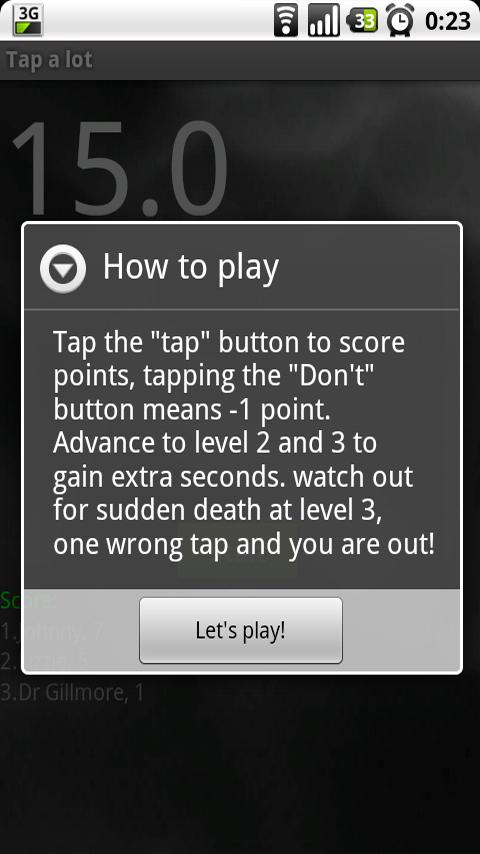 Tap a lot - screenshot