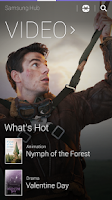 Screenshot of Samsung Hub