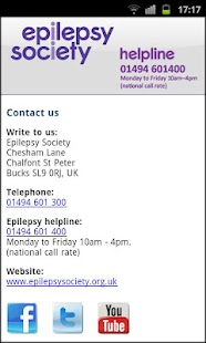 epilepsy society - screenshot thumbnail