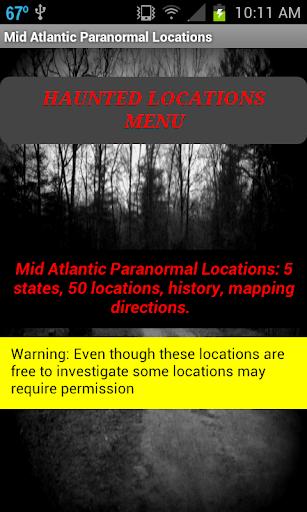 MidAtlanticParanormalLocations