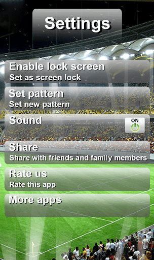 Football Pattern Screen Lock