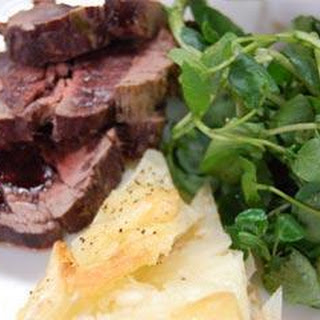Roast Beef Fillet with Horseradish Creamed Potatoes Recipe
