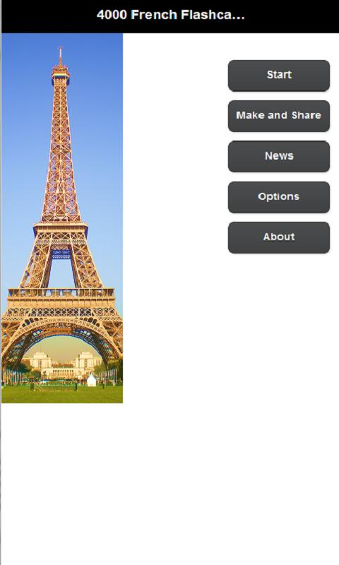 4000 French Flashcards & Quiz - screenshot