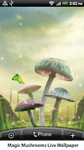 Magic Mushrooms Live Wallpaper- screenshot thumbnail