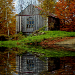 Old and Abandoned by Janet Lyle - Buildings & Architecture Decaying & Abandoned ( barn, autumn, fall )