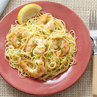 Garlic Shrimp Scampi with Angel Hair Pasta.