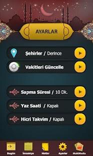 İmsakiye 2015 - screenshot thumbnail