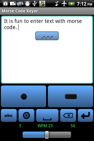 Morse Code Keyer - screenshot