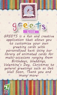 GREETS Lite Anim Greeting Card - screenshot thumbnail