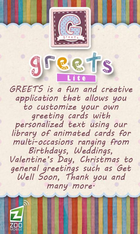 GREETS Lite Anim Greeting Card - screenshot