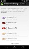 Screenshot of ÖPNV-Störungen