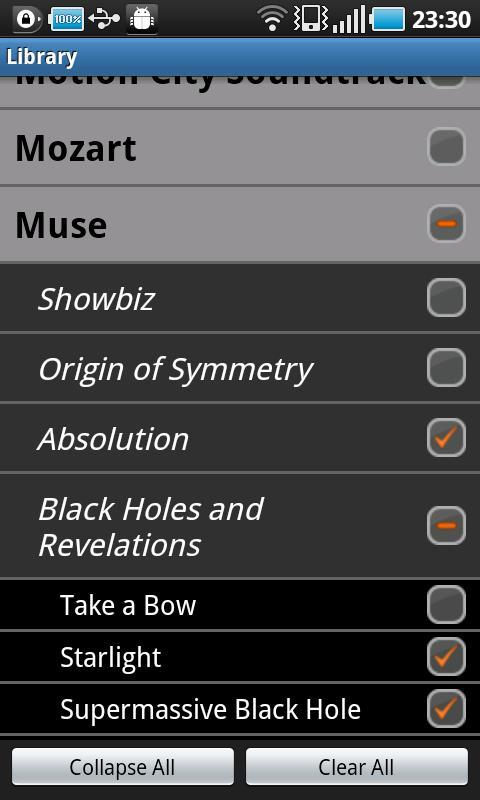 TreeView Music Player - screenshot