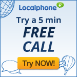 cheap international calls, Localphone