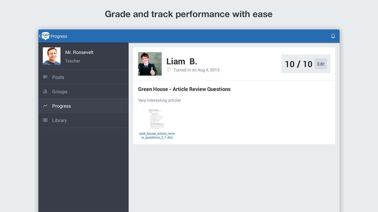 Edmodo - screenshot