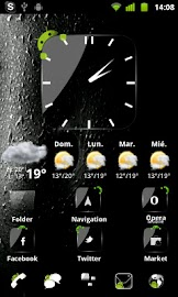 Crystal Black Clock Widget Screenshot 6