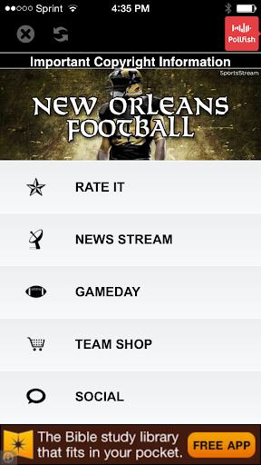 New Orleans Football STREAM