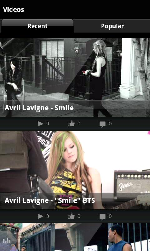 Avril Lavigne - screenshot
