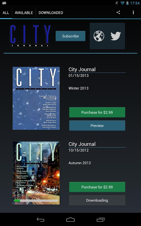 City Journal- screenshot