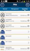 Screenshot of Equasis Mobile