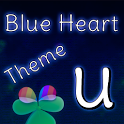 GO Launcher Blue Heart Theme icon