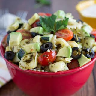 Pesto Pasta & Tortellini Salad.