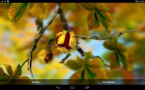 Autumn Leaves in HD Gyro 3D XL  Parallax Wallpaper Screenshot