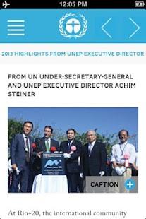 UNEP Annual Report 2013- screenshot thumbnail