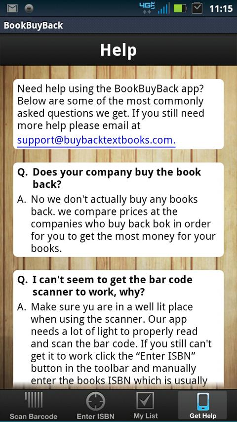 Textbook Buy Back Comparison- screenshot