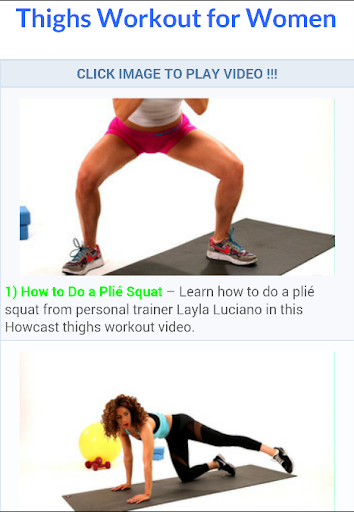 Thighs Workout for Women