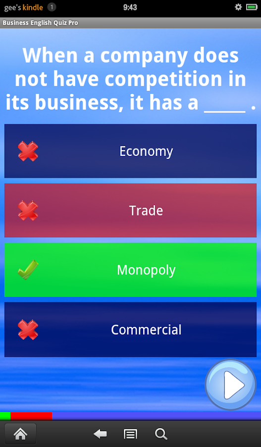 Business English Quiz Pro - screenshot