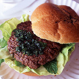 Lamb Burgers with Mint Sauce