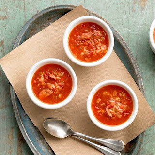 Tomato, Rice, and Sausage Soup.