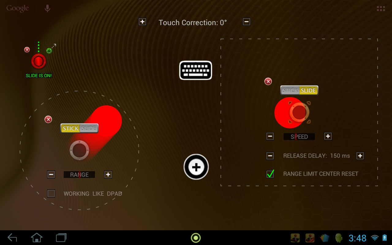 USB/BT Joystick Center GOLD - screenshot